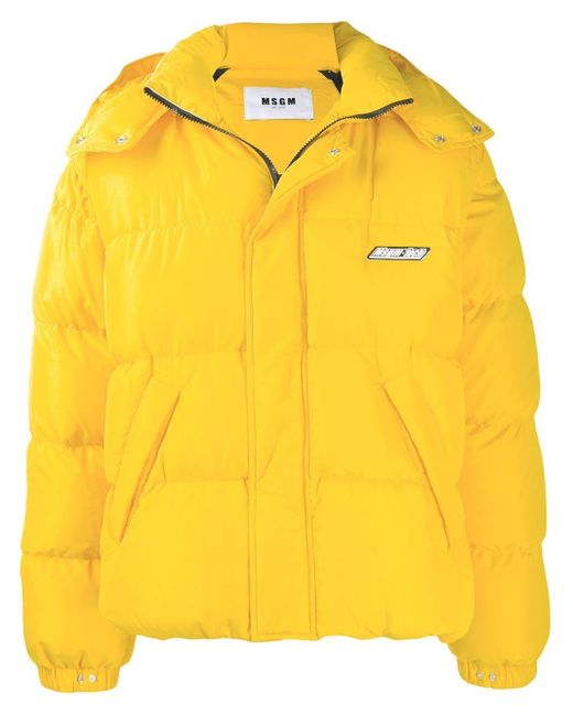 メンズ MSGM パデッドジャケット Yellow