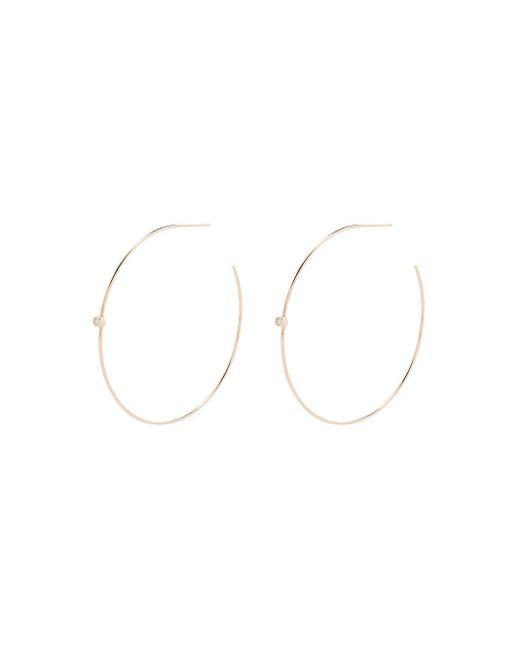 Серьги-кольца Из Желтого Золота С Бриллиантами Zoe Chicco, цвет: Multicolor