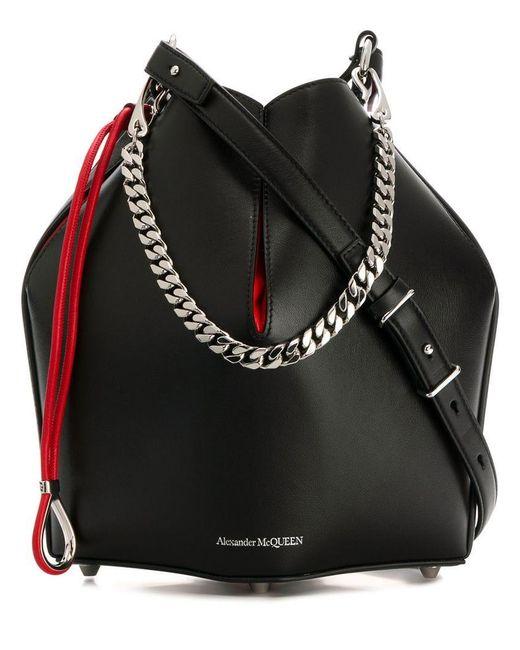 bfbe3ea6fd8 Alexander McQueen - Black Chain Detail Shoulder Bag for Men - Lyst ...