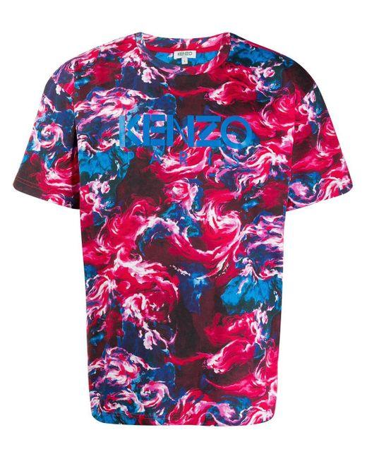 メンズ KENZO ロゴプリント Tシャツ Multicolor
