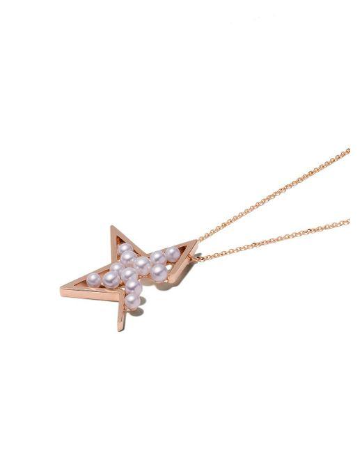 Tasaki Abstract Star パール ネックレス 18kローズゴールド Metallic