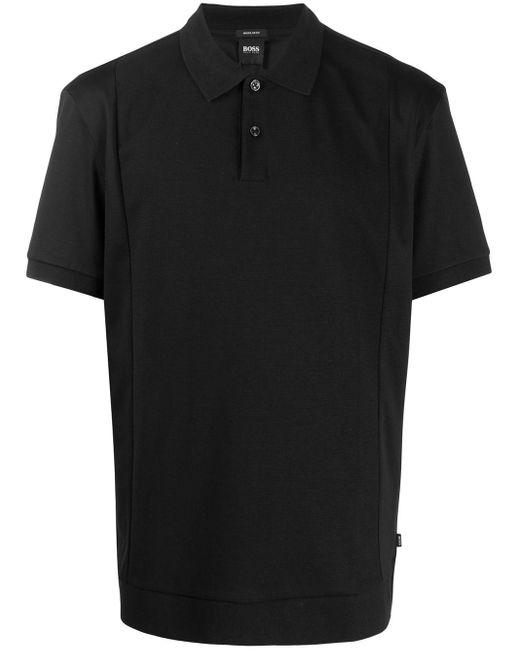 メンズ BOSS by Hugo Boss リラックスフィット ポロシャツ Black