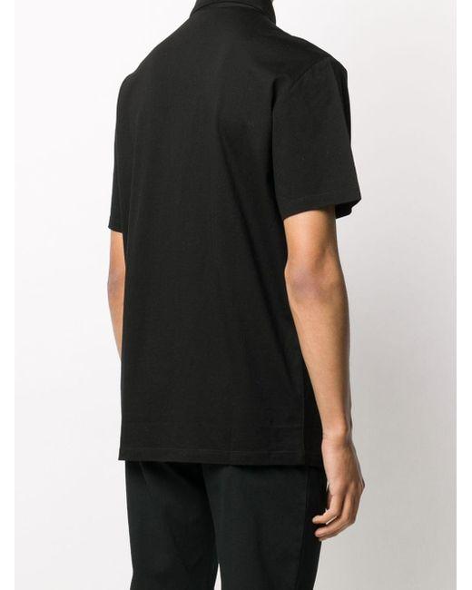 メンズ Emporio Armani ロゴパッチ ポロシャツ Black