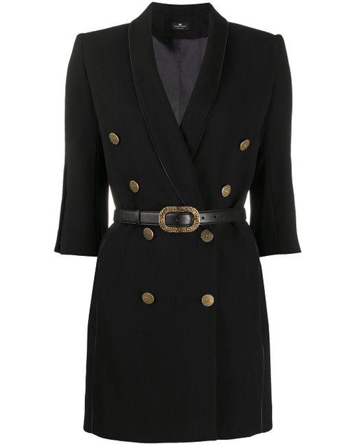Elisabetta Franchi ベルテッド ドレス Black