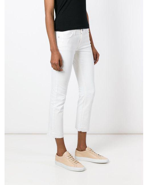 Current/Elliott White Cropped Skinny Jeans