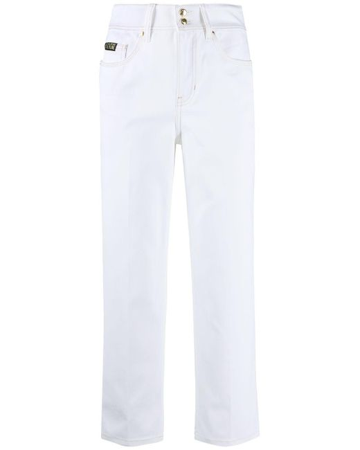 Versace Jeans クロップドジーンズ White