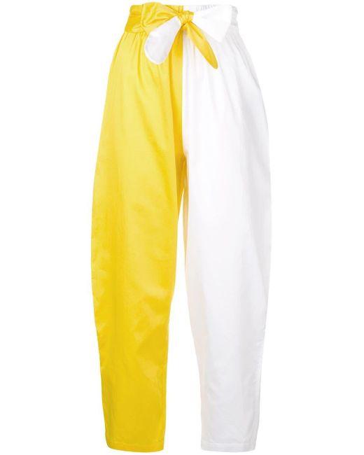 Mara Hoffman カラーブロック クロップドパンツ White