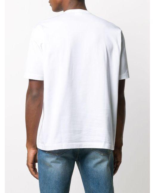 メンズ Junya Watanabe チェック パッチワーク Tシャツ White