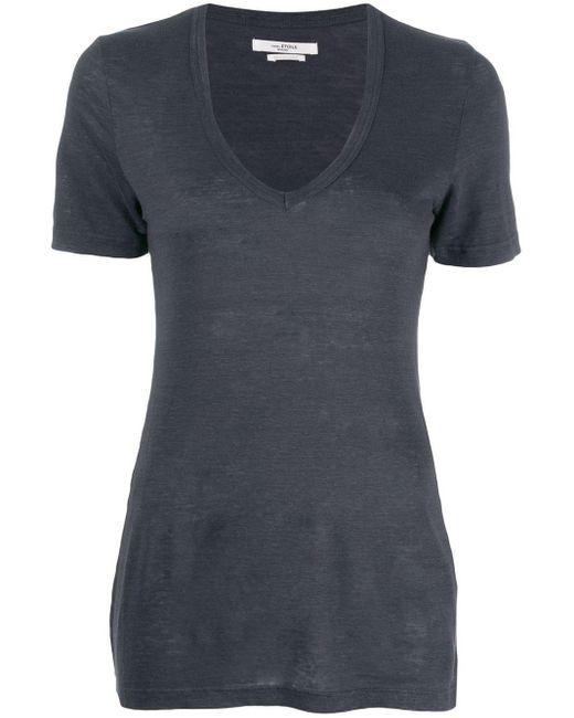Étoile Isabel Marant スクープネック Tシャツ Blue