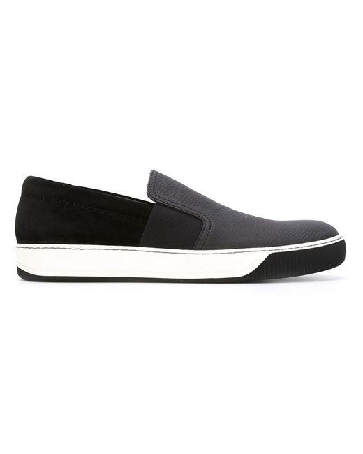 Lanvin 'enfiler' Slip-on Chaussures De Sport - Noir rSBBND
