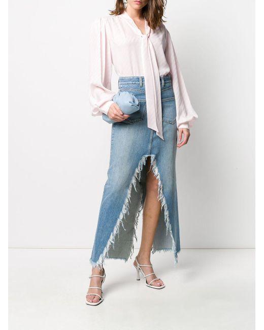 Givenchy ストライプ ボウタイ ブラウス Pink