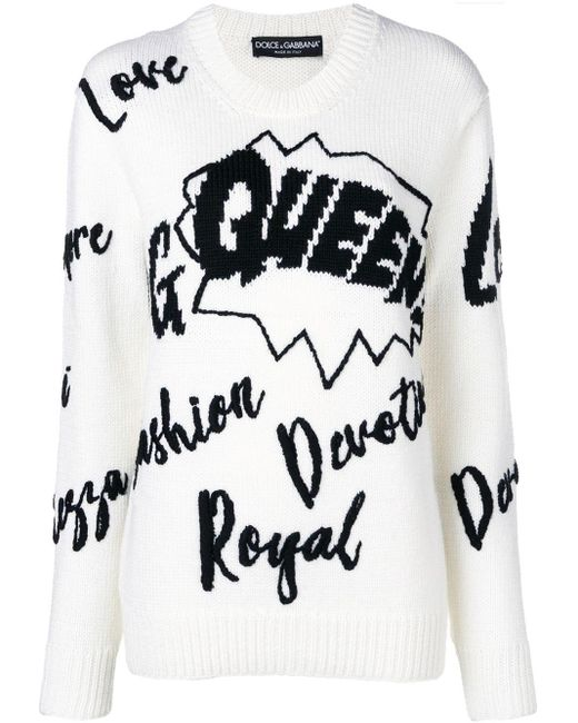 Dolce & Gabbana スローガン セーター Multicolor