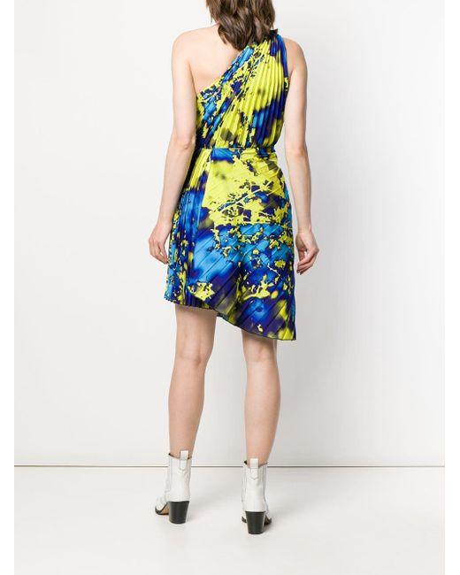 MSGM ワンショルダー ドレス Yellow
