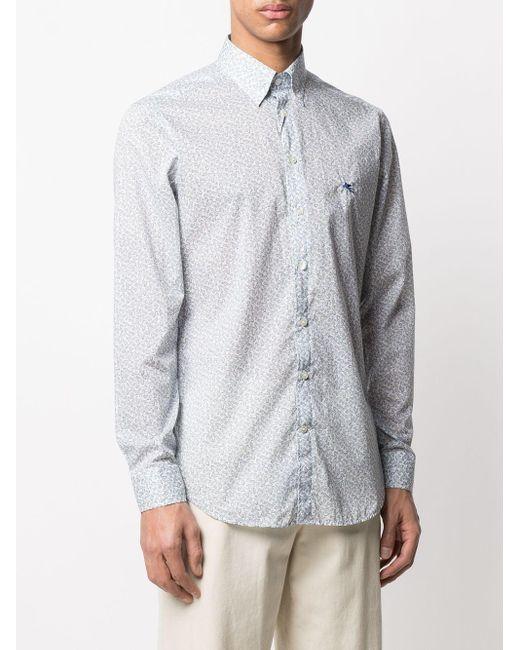Рубашка С Принтом Пейсли Etro для него, цвет: White