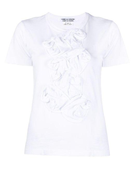 Comme des Garçons フローラル ラッフル Tシャツ White