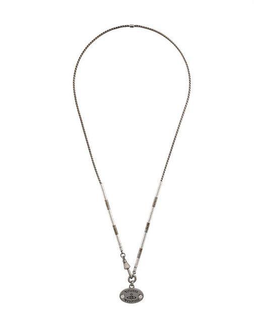 Vivienne Westwood | Metallic Logo Necklace for Men | Lyst