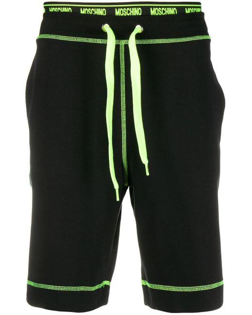 メンズ Moschino ロゴ ショートパンツ Black