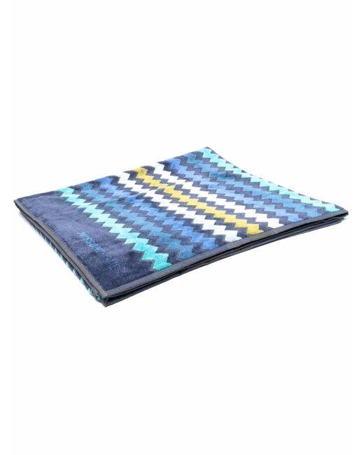 Полотенце С Узором Зигзаг Missoni, цвет: Blue