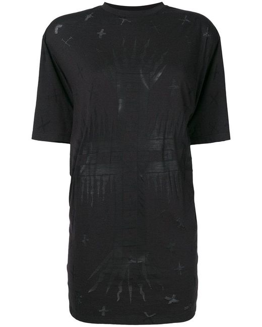 Fausto Puglisi - Black Printed Longline T-shirt - Lyst