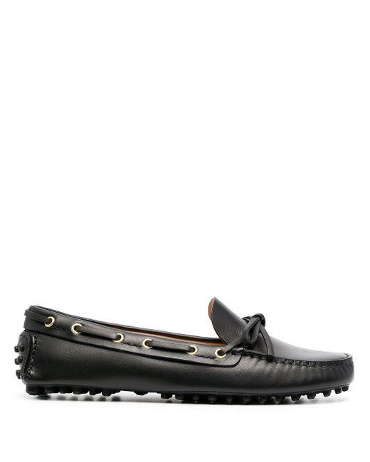 Car Shoe Black Loafer mit Schnürung