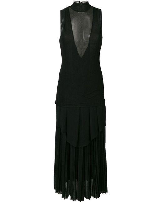 Длинное Платье Шифт С Полупрозрачной Вставкой Proenza Schouler, цвет: Black