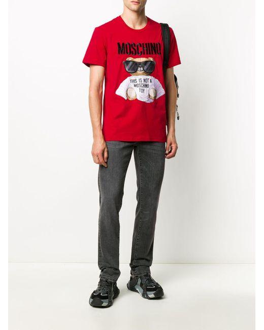 メンズ Moschino テディベア Tシャツ Red