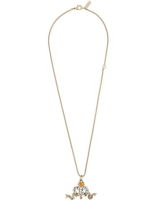 Rada' - Metallic Ribbon Pendant Necklace - Lyst