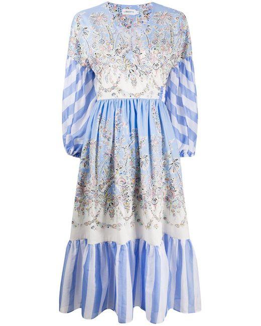 Liberty Octavie Hilary ラップドレス Blue
