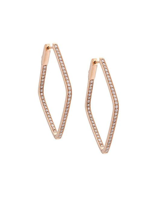 Anita Ko - Metallic Diamond Shaped Earrings - Lyst
