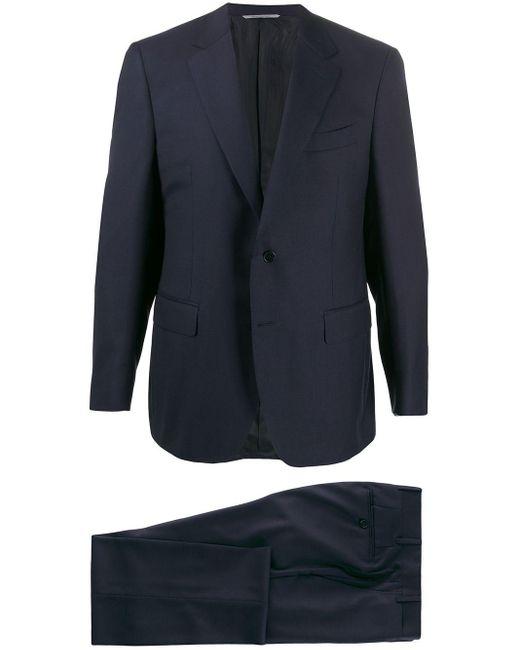 Canali Einreihiger Anzug in Blue für Herren