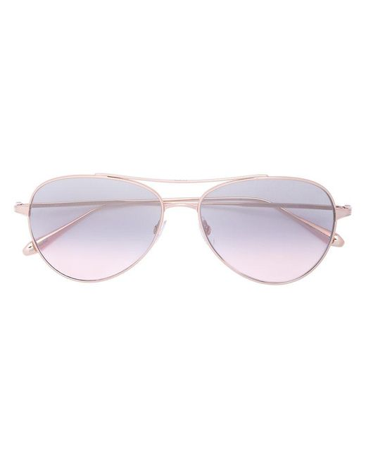 Garrett Leight - Metallic Culver Sunglasses - Lyst