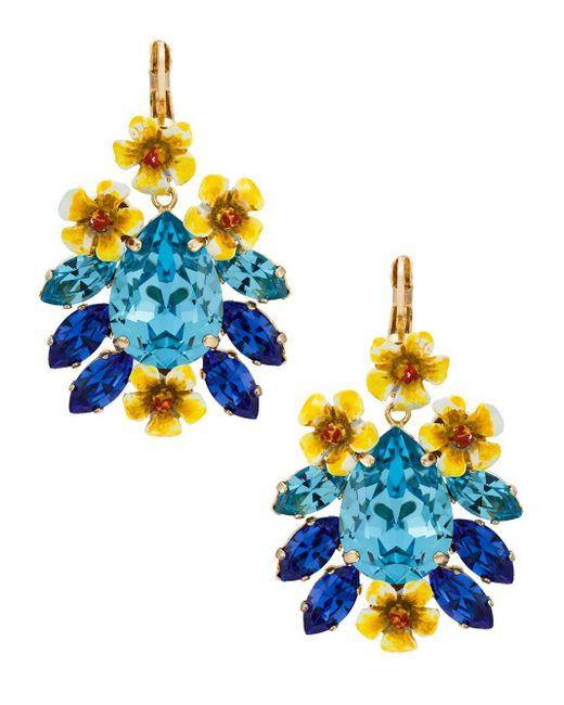 Dolce & Gabbana クリスタル ピアス Blue