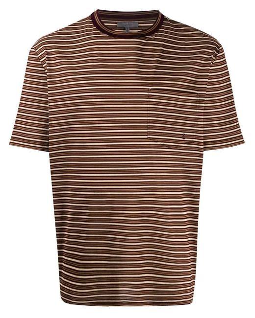 メンズ Lanvin ストライプ Tシャツ Brown