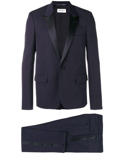 メンズ Saint Laurent ツーピース スーツ Blue