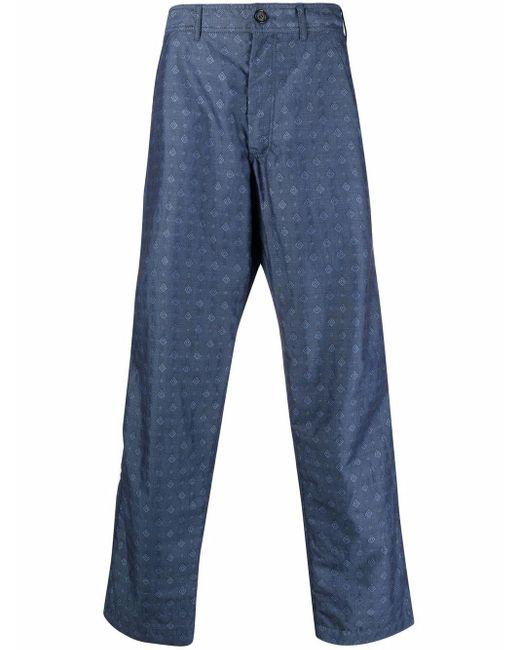 Pantaloni taglio comodo di Comme des Garçons in Blue da Uomo