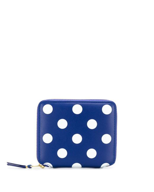 Кошелек В Горох Comme des Garçons для него, цвет: Blue