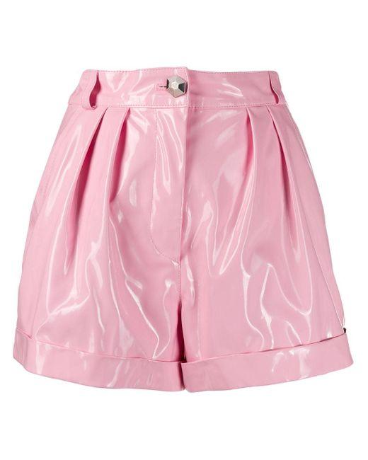 Philipp Plein ハイウエスト ショートパンツ Pink