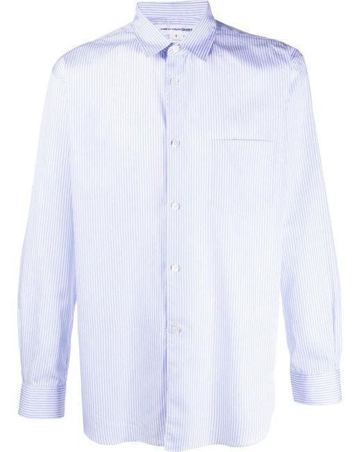 メンズ Comme des Garçons ストライプ シャツ Blue