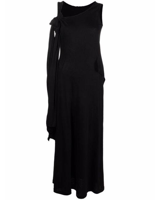 Vestido con detalle de nudo Yohji Yamamoto de color Black