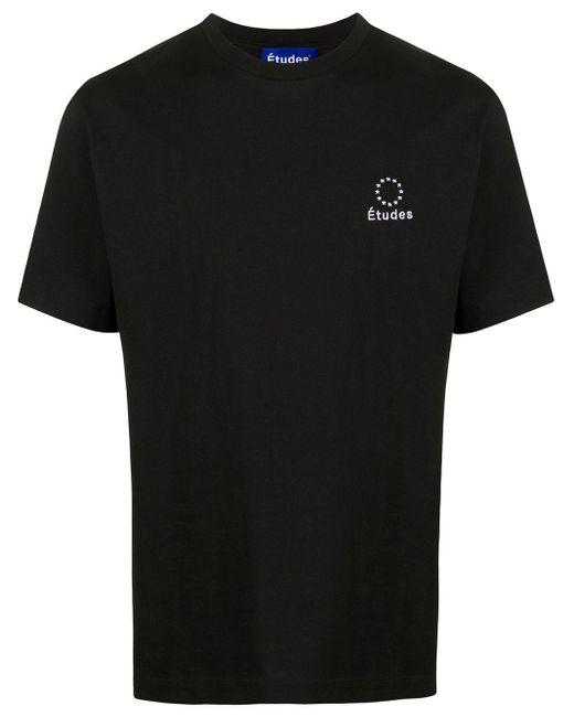 メンズ Etudes Studio ロゴ Tシャツ Black