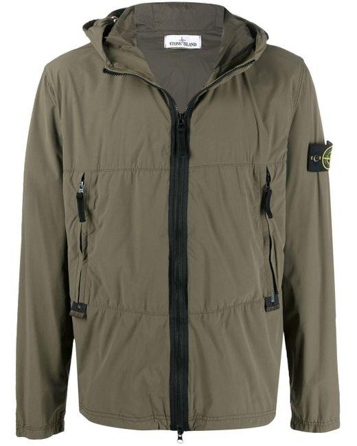 Куртка Skin Touch С Капюшоном Stone Island для него, цвет: Green