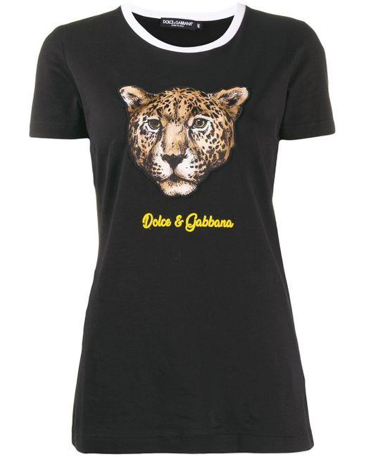 Dolce & Gabbana プリント Tシャツ Black