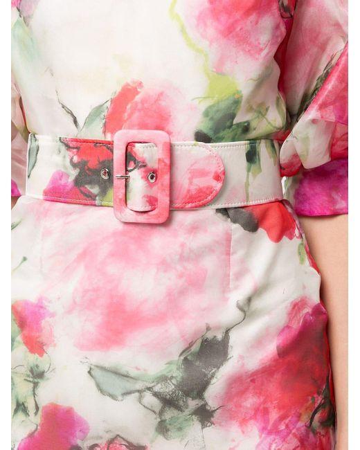 Marchesa フローラル ドレス Pink