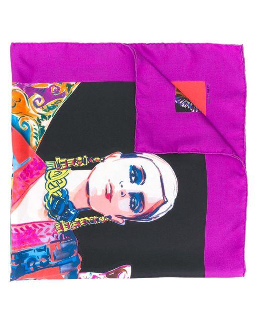 Etro プリント スカーフ Multicolor