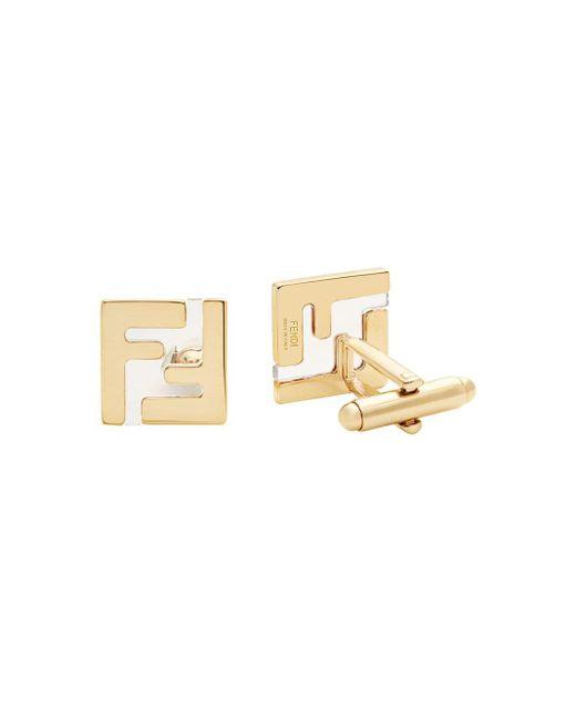 メンズ Fendi Ff ロゴ カフスボタン Metallic