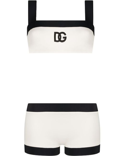 Dolce & Gabbana ロゴ ビキニ White