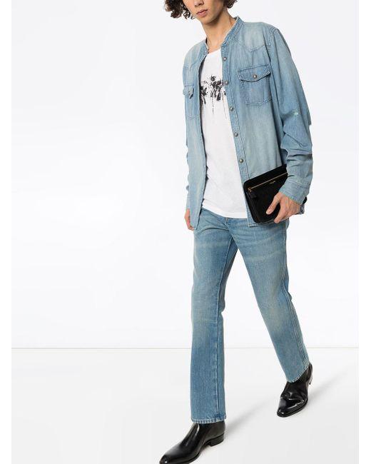 メンズ Saint Laurent コットンジャージーtシャツ White