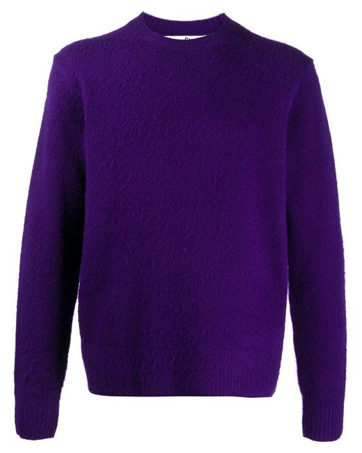 メンズ Acne クルーネック プルオーバー Purple