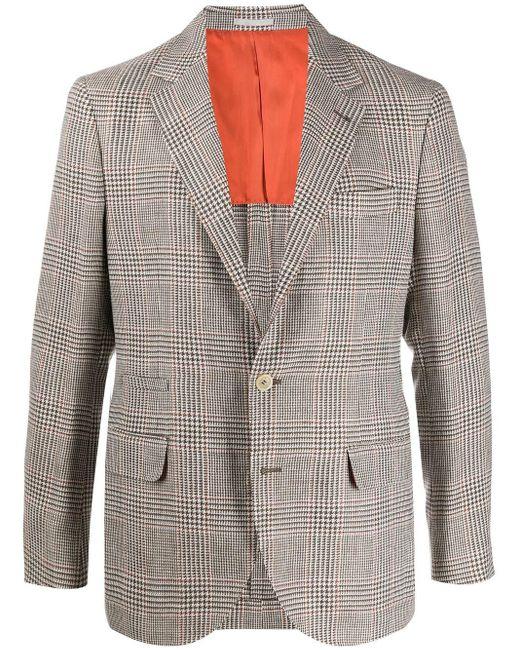 メンズ Brunello Cucinelli ハウンドトゥース ジャケット Gray