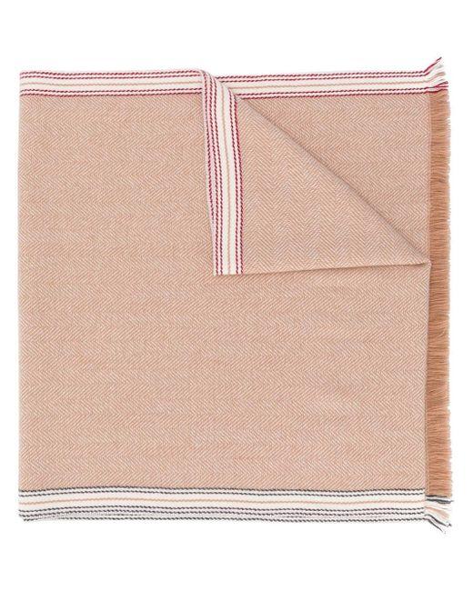 メンズ Brunello Cucinelli ヘリンボーン スカーフ Multicolor